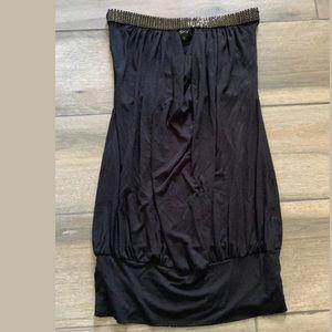 Sky brand black strapless rhinestone dress Sz S